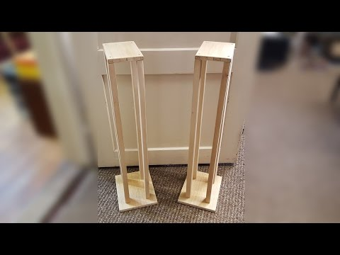 Building Speaker Stands from Scrap Wood