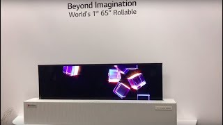 """Roll-up 65"""" OLED TV from LG Display"""