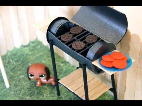 How to Make a Doll BBQ Grill - Doll Crafts