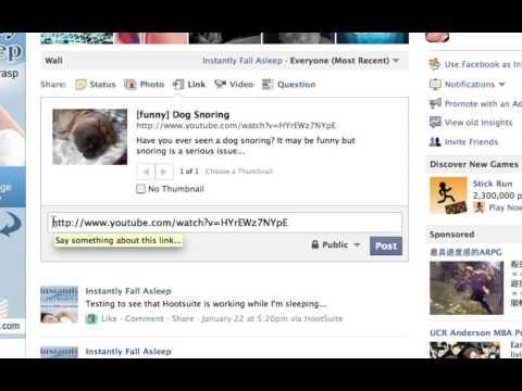 Posting Links on Facebook