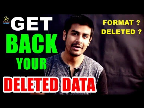 GET BACK YOUR DELETED DATA | DATA RECOVERY TUTORIAL IN HINDI