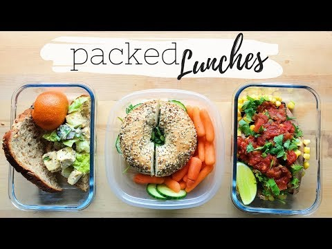 EASY PACKED COLD LUNCHES FOR WORK OR SCHOOL (Vegan)