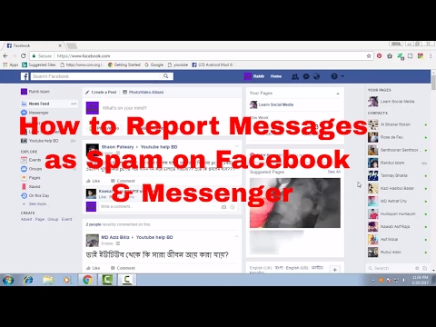 How to Report Messages Conversation as Spam on Facebook & Messenger FB Tips 60