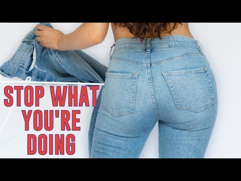 WHAT NO ONE TELLS YOU ABOUT JEANS  *life changing*