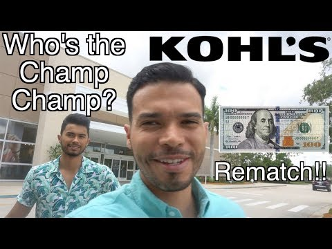 The $100 Kohl's Challenge - Jose vs. Juan Rematch!