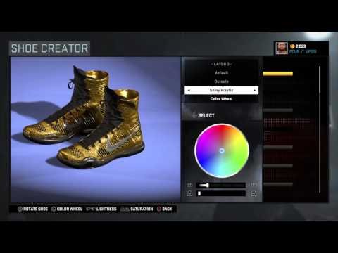 NBA 2K16 how to make golden sneakers