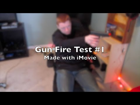 Gun Fire Special Effect Test #1: Made with iMovie | (Using Stock Footage)