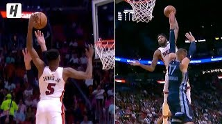 Derrick Jones Jr. POSTERIZES Jonas Valanciunas | October 23, 2019-20 NBA Season