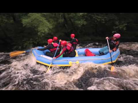 White Water Rafting on a Snowdonia Mountain River