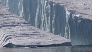 Large Iceberg Breaking near Ilulissat