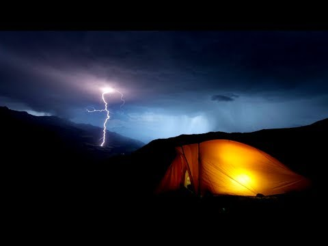 Black Screen: Binaural Thunder and Rain Sounds from Tent in High Mountains