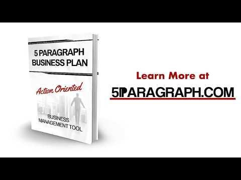 5 Paragraph Business Plan