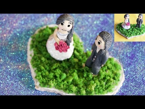 DIY CLAY COUPLE  Handmade gift for him/her 