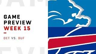 Detroit Lions vs. Buffalo Bills | Week 15 Game Preview | Move the Sticks