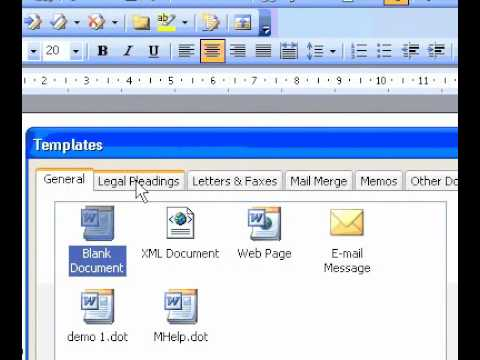 Microsoft Office Word 2003 Create a legal pleading