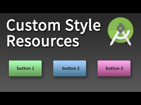 Android Development - Custom Style Resource in Android Studio