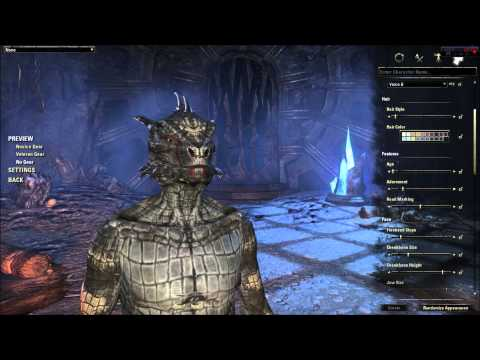Elder Scrolls Online Character Creation - Argonian (In Depth ESO Character Customization Review)