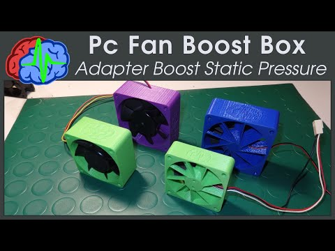 Pc Fan Boost Box - 3D printing Adapter to increase static pressure
