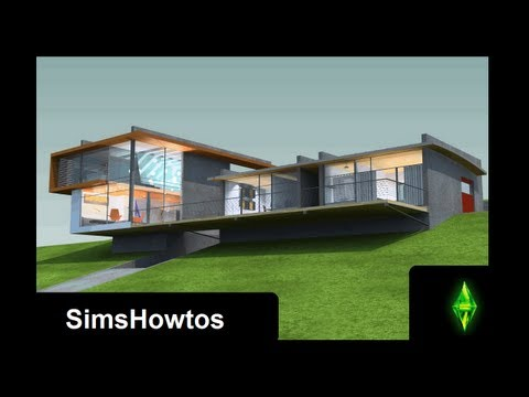 The Sims 3 - Building a Modern House - High-Hill-House -
