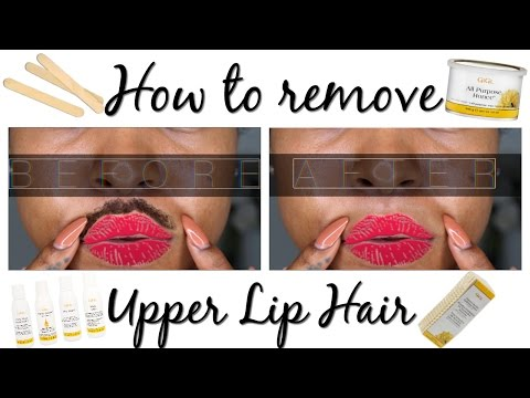 How to wax your upper lip (EASY)!