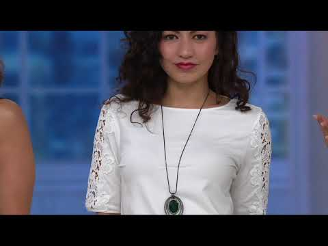 Susan Graver Weekend Cotton Modal Top with Lace Insets on QVC