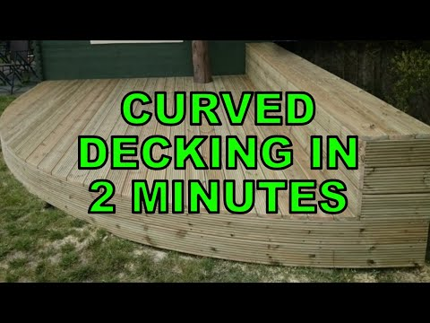 How To Build Curved Decking in 2 minutes