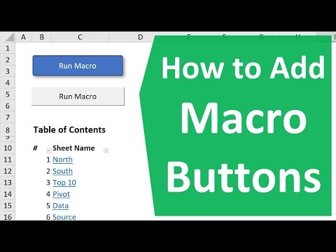 How to Create Macro Buttons in Excel Worksheets