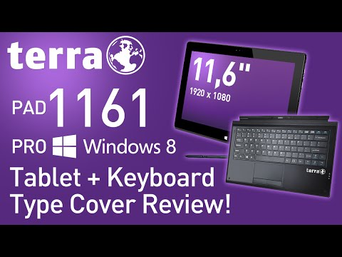 TERRA PAD 1161 PRO Windows 8 Tablet + Keyboard Type Cover Review!