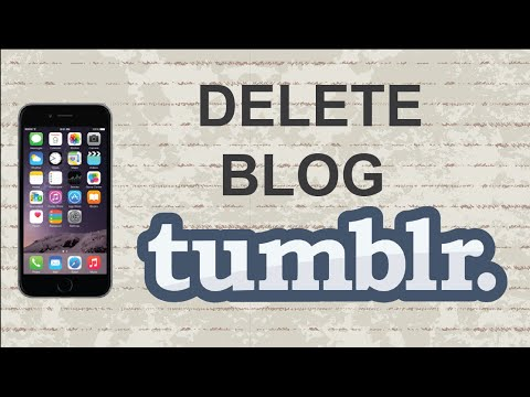 How to delete a Tumblr blog | Mobile App (Android / Iphone)