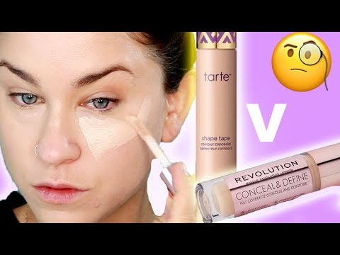 MAKEUP REVOLUTION CONCEALER V TARTE SHAPE TAPE | Which is worth your money!? |Beauty Banter