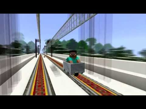 High Speed Train in Minecraft