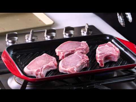 The Le Creuset Signature Cast-Iron Double-Burner Skinny Grill | Williams-Sonoma