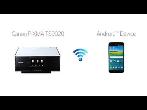 Canon PIXMA TS9020 - Easy Wireless Connect Method with an Android device