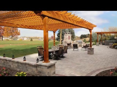 New Rear Brick Patio & Outdoor Living Area Time Lapse