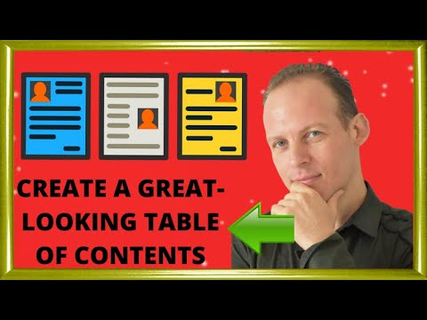 How to create a professional looking table of contents for your Kindle ebook or paperback on Amazon