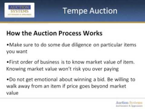 Tempe Auction: What to Know about the Process