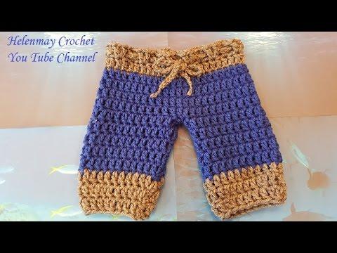 Crochet Quick and Easy Beginner Baby Pants DIY Tutorial