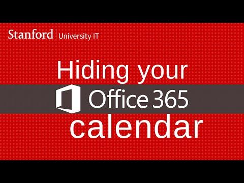 Hiding your Office 365 calendar