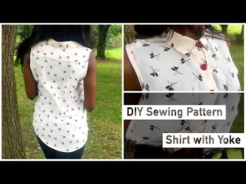 Pattern Drafting Tutorial – Shirt with Yoke • Elewa