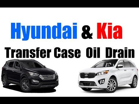 Kia & Hyundai Transfer-Case Fluid Drain