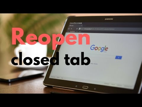 NECESSARY TIP - Open closed tab in Chrome