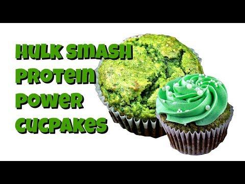 Hulk Smash Protein Power Cupcakes || Gretchen's Vegan Bakery