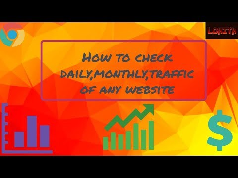 How to check daily,yearly,traffic revenue of any website