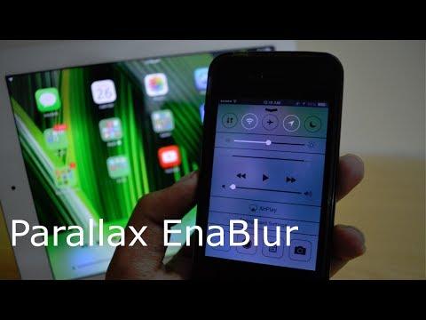 Parallax EnaBlur | Enable Transparent Effect on iPhone 4 & iPad 3/2 | Cydia Tweak 2014