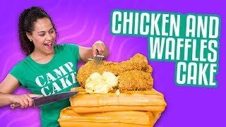 Chicken And Waffles CAKE!! | How To Cake It