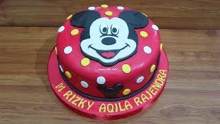 Minnie Mouse Cartoon Cara Membuat Kue Ulang Tahun Tart