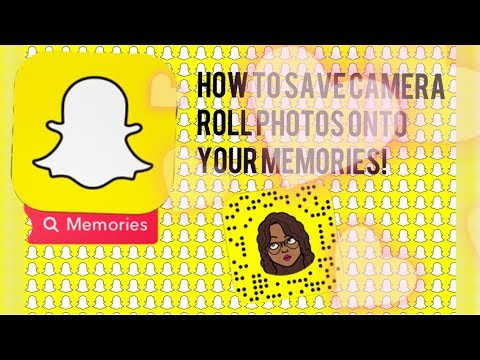 SNAPCHAT| HOW TO TRANSFER PHOTOS FROM YOUR CAMERA ROLL TO YOUR MEMORIES!