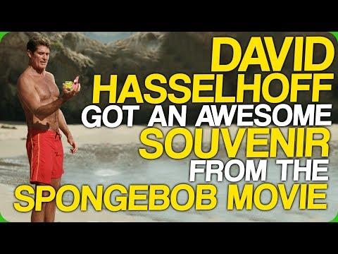 David Hasselhoff Got An Awesome Souvenir From The Spongebob Movie (My Birthday!)