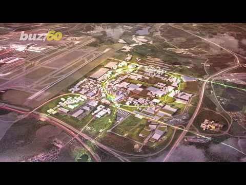 This Futuristic Sustainable Airport Will Build a 'City' of Driverless Cars