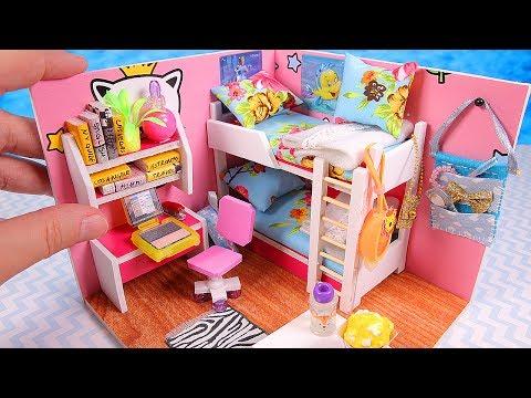 DIY Miniature Girl Dollhouse Room (Part I)
